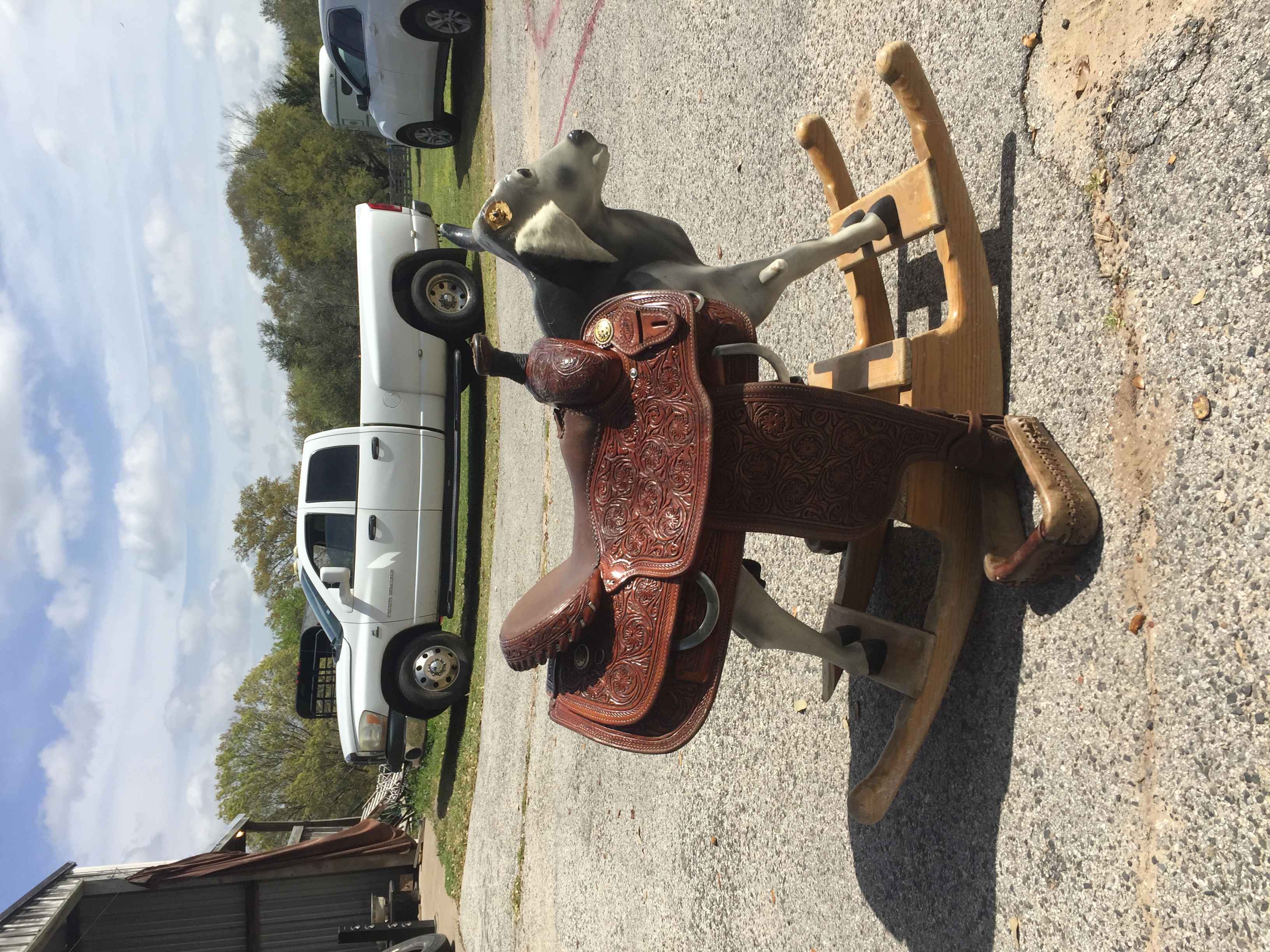 South Texas Tack 14.5 calf roping saddle