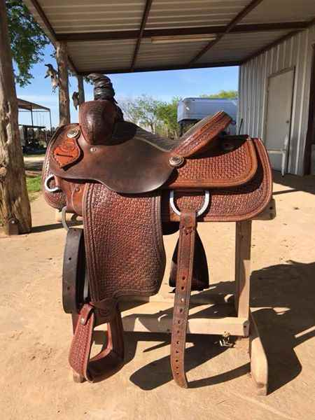 Original Coats Roping Saddle 14